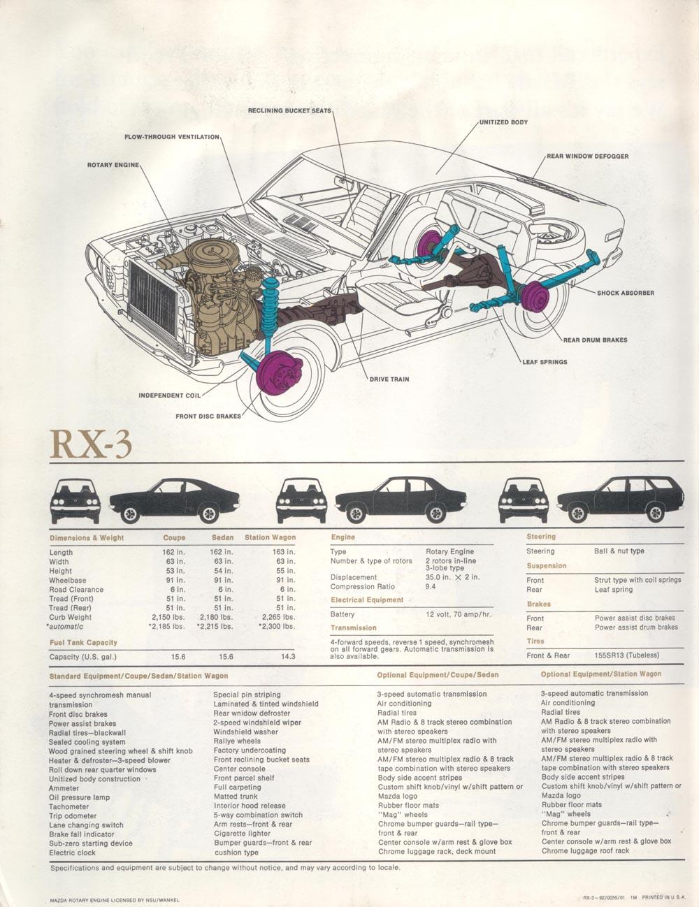 Index Of Rx 7 Brochure Rx3 1993 Mazda Rotary Engine Diagram Rx311