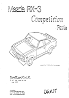 1977 RX-3 Competition Parts Catalog