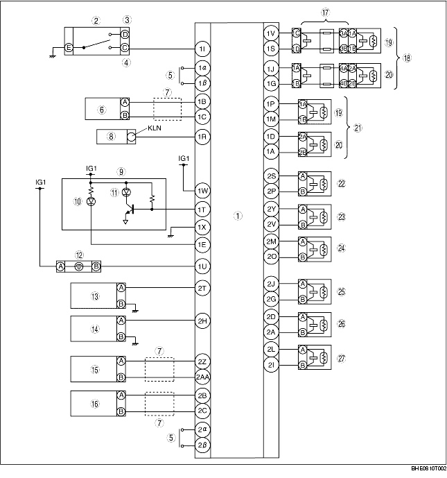 Air Bag System Wiring Diagram