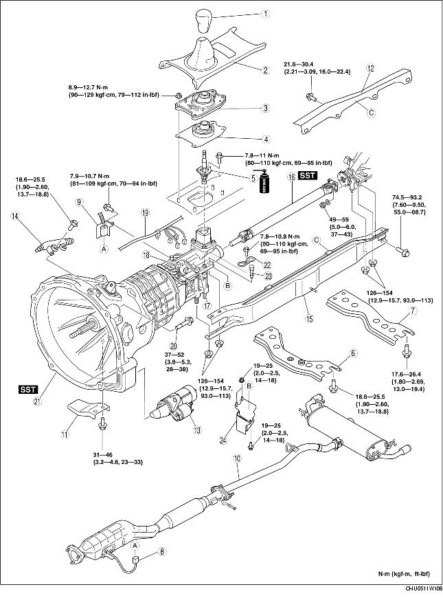 transmission removal  installation  y16m