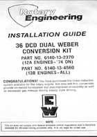 Rotary Engineering 36DCD Installation Guide