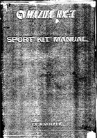 Rx-3 Sports Kit Manual