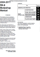 2004-2011 RX-8 Bodyshop Manual
